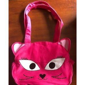 Other - Girls Bag Purse Cat Face Pink 14 x 11